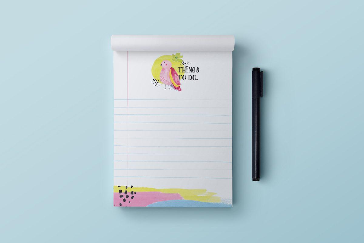 notes lista zadań to do papuga