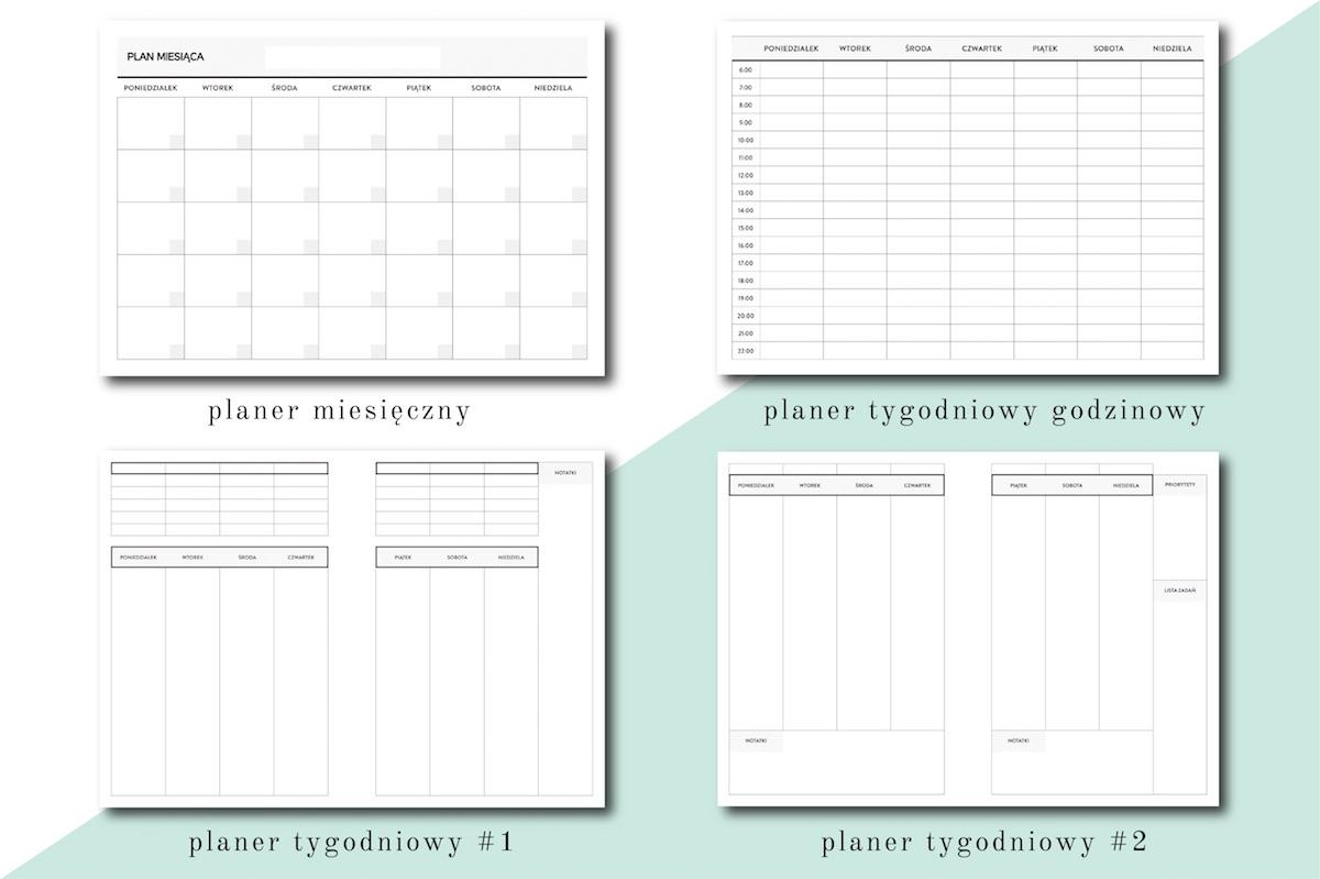 wkład do organizera planera dzienny tygodniowy do druku PDF