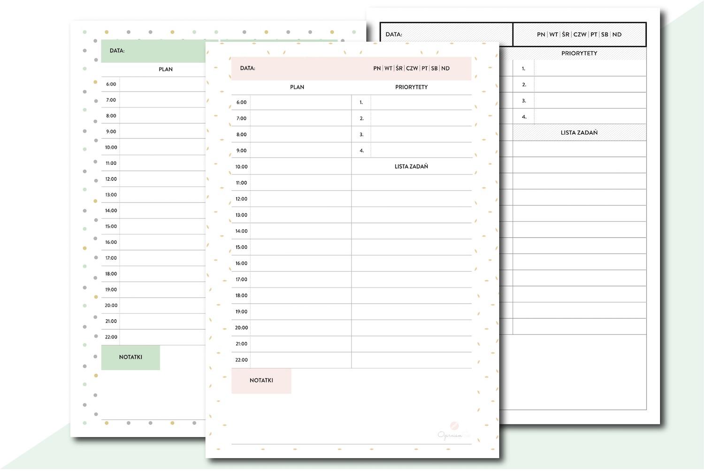 planery dzienny do druku pliki pdf do pobrania druku