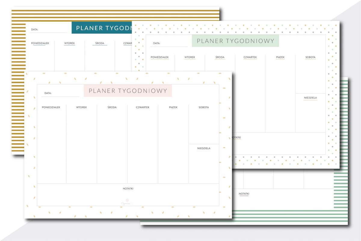 planer tygodniowy do druku PDF