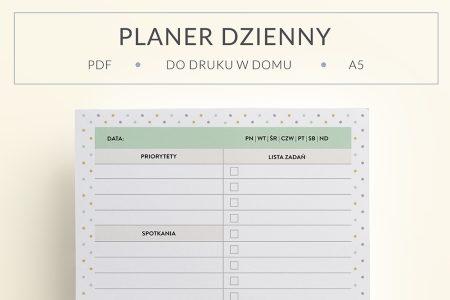 OgarniamSie PlanerDziennyKolorowy main 450x300 - Planer dzienny #2 do druku | kolorowy
