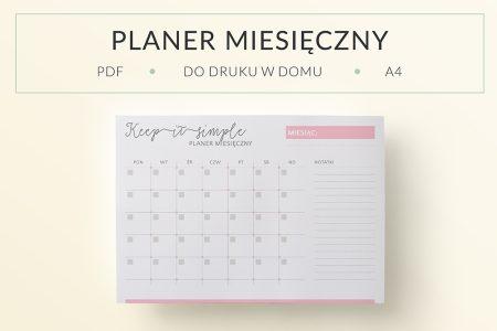 OgarniamSie PlanerMiesiecznyKeepItSimple main 450x300 - Planer miesięczny do druku - Keep It Simple
