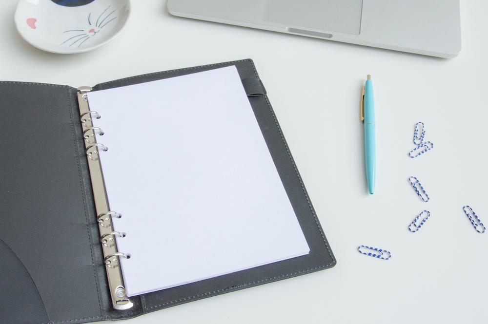 notes wkład do organizera czyste puste kartki a5
