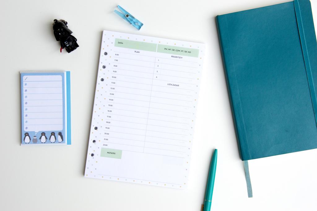 planer dzienny priorytety lista zadań to do wkład do organizera a5