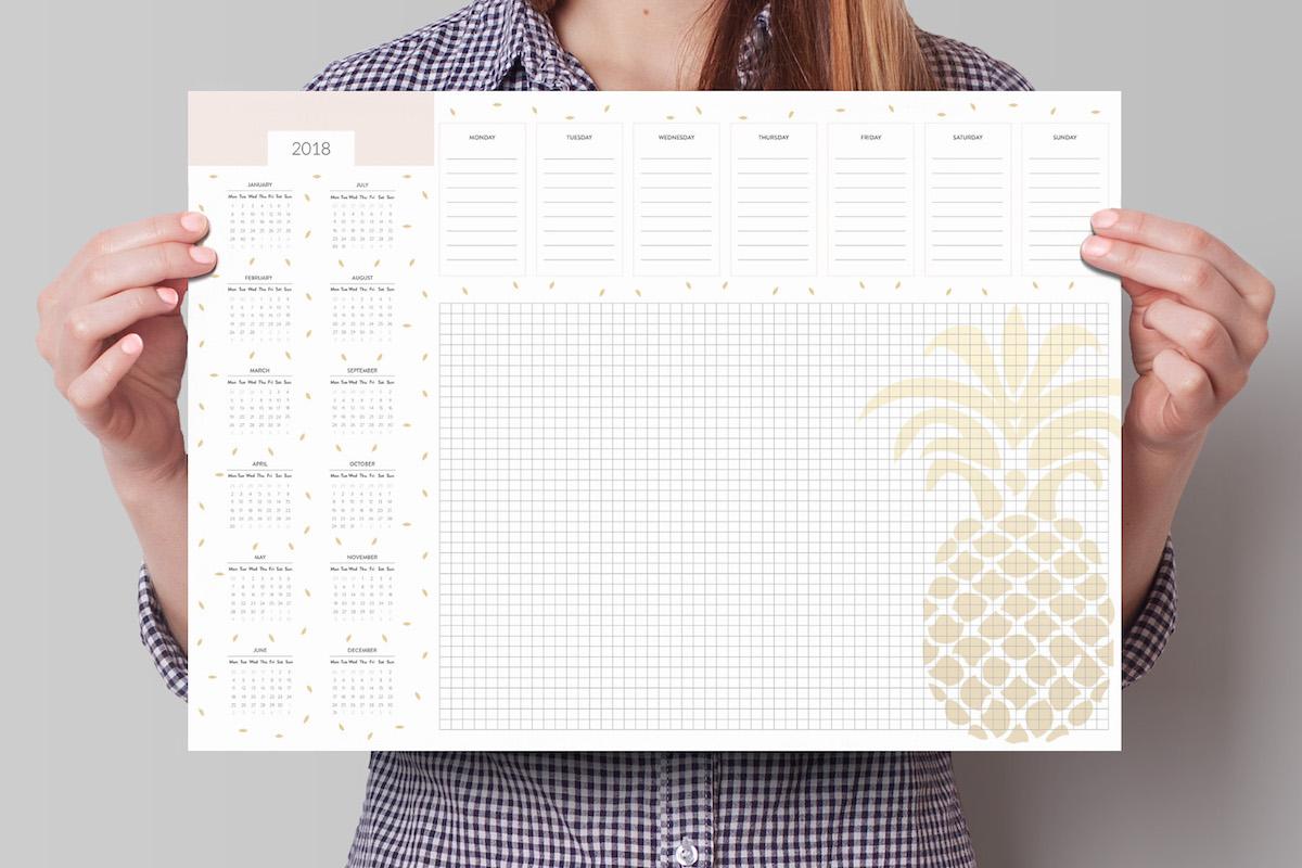 kalendarz 2018 planer na biurko a3