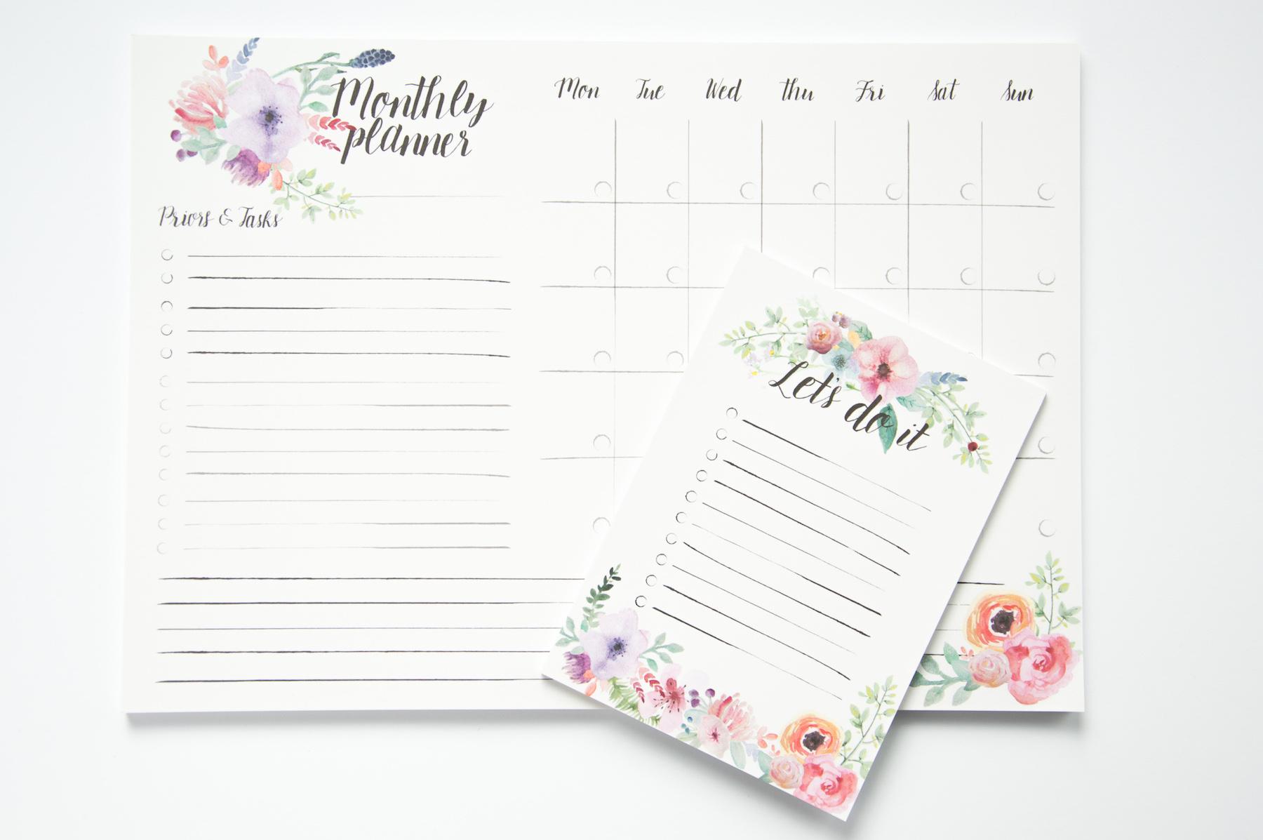 planer miesięczny to do lista zadań notes