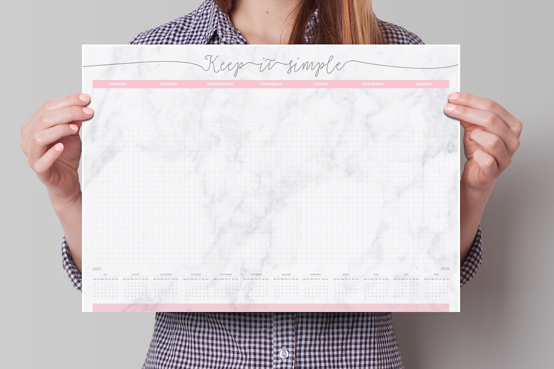marmurowy planer kalendarz na biurko