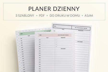 OgarniamSie PlanerDzienny main 450x300 - Planer Dzienny do druku | 3 różne wzory