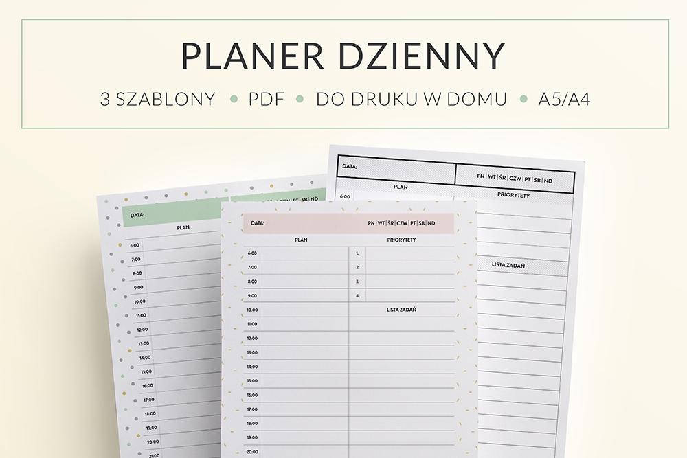 OgarniamSie PlanerDzienny main - Planer Dzienny do druku | 3 różne wzory