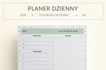 OgarniamSie PlanerDziennyNaNotatki main 450x300 - Planer dzienny z dużą ilością miejsca na notatki do wydrukowania