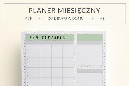 """OgarniamSie PlanerMiesiecznyPanPorzadek main 450x300 - Miesięczny planer rodzinny do druku """"Pan Porządek"""""""