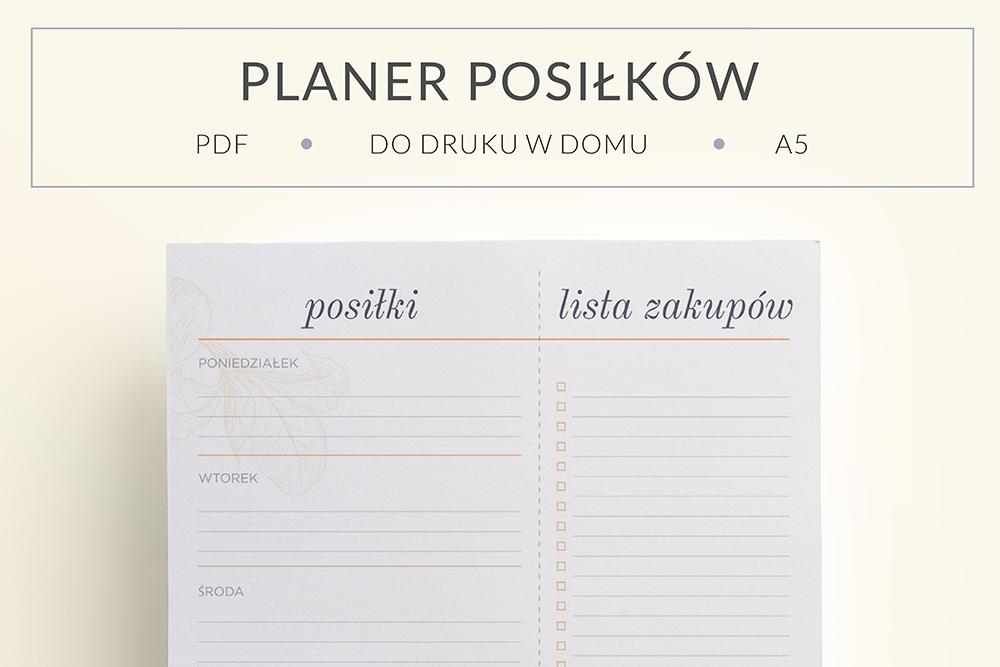 OgarniamSie PlanerPosilkow main - Planer posiłków na cały tydzień i lista zakupów do druku