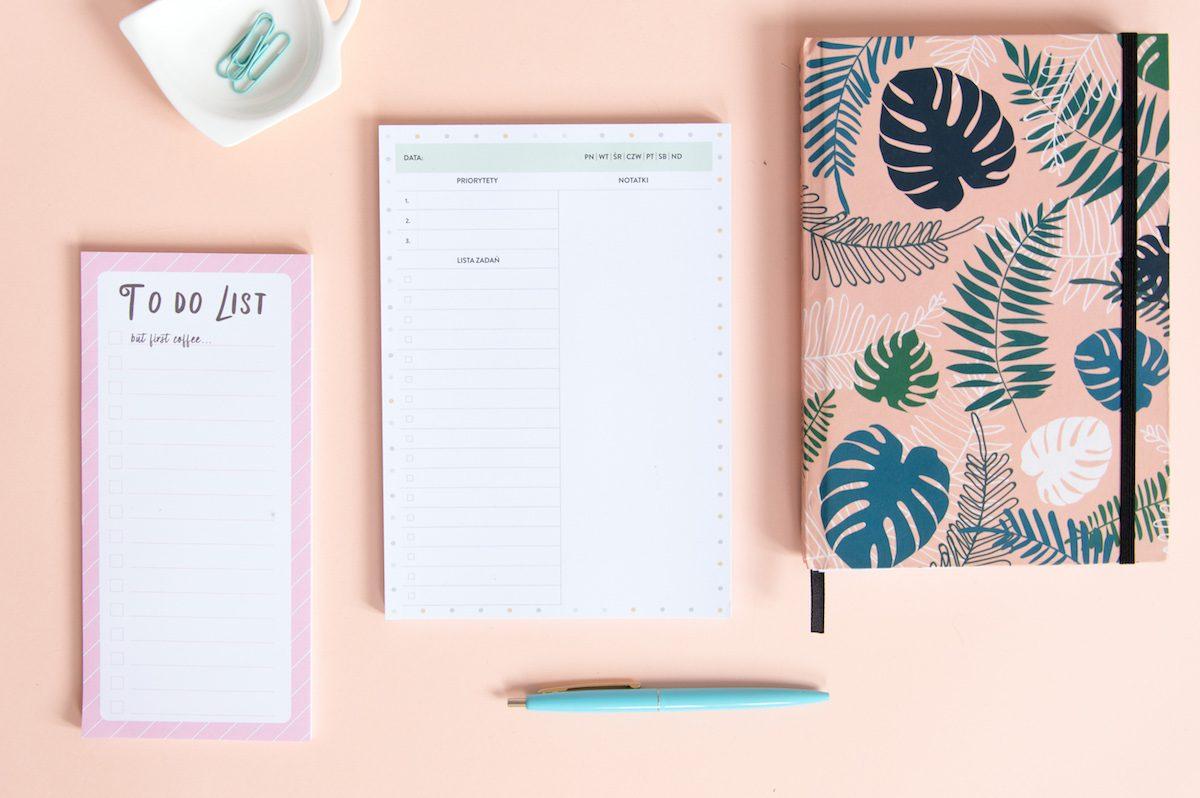 planer dzienny z dużą ilością miejsca na notatki