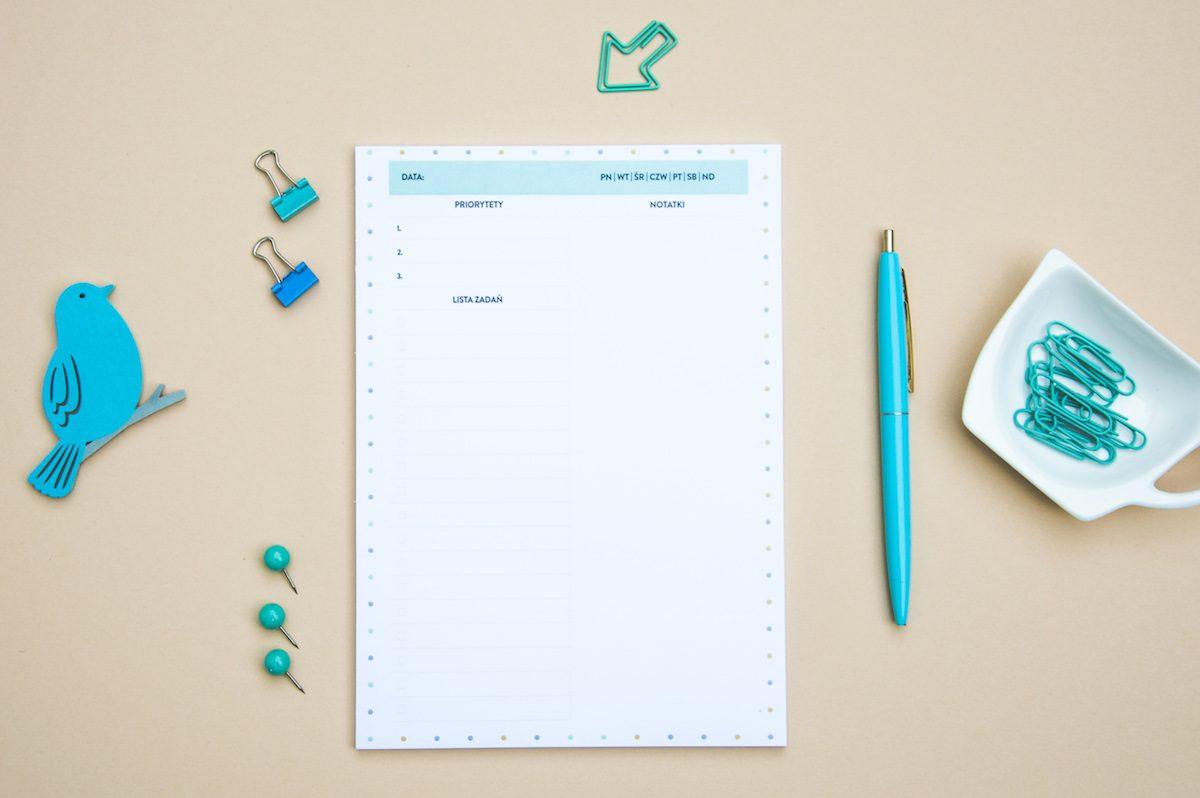 planer dzienny z duza iloscia miejsca na notatki