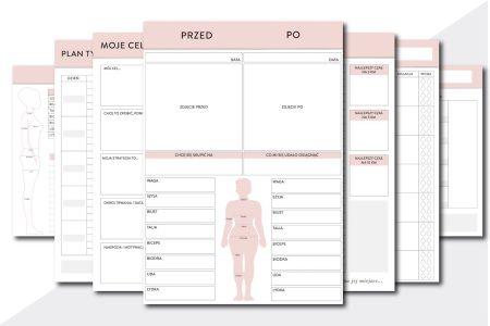 planer treningów fitness planner pdf do druku