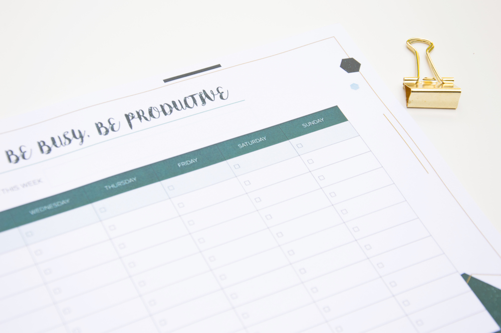 planer tygodniowy a4 notes na biurko poligonal