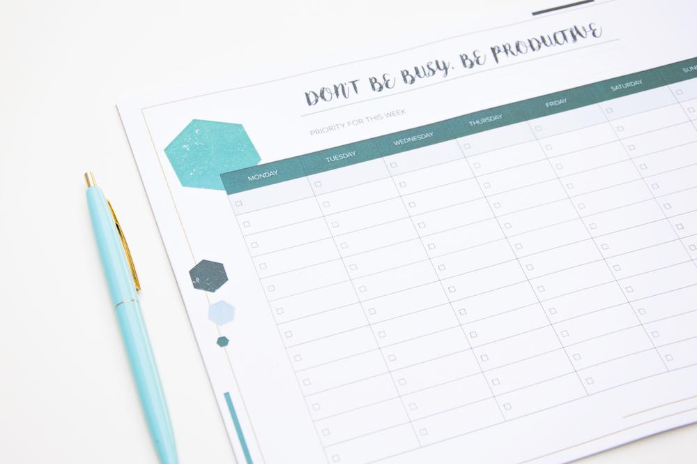 planer tygodniowy a4 notes na biurko poligonal lista zadań do zrobienia