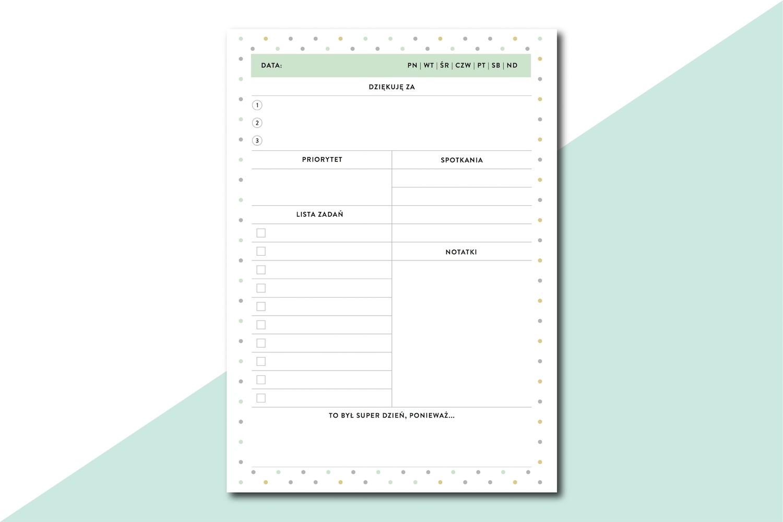 planer wdzięczności do wydrukowania PDF pobrania