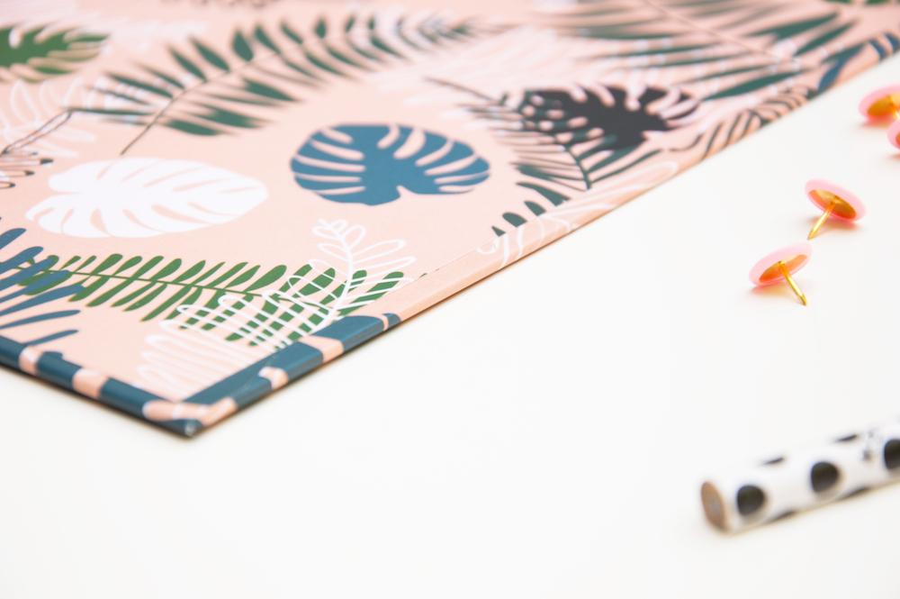 podkładka z klipem monster liście tropikalne a5 deska z klipem