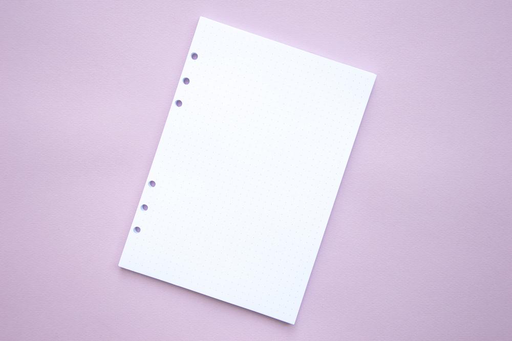 wkład do organizera bullet journal w kropki a5