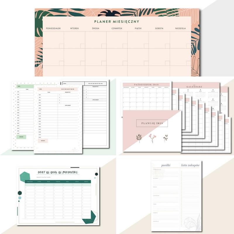 zestaw planerów do druku PDF