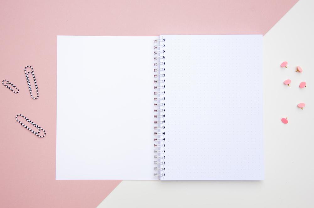 zeszyt spiralowany bujo notes w kropki journal