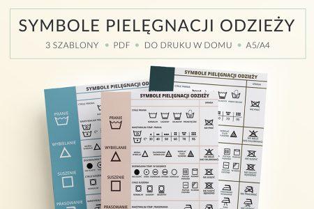 OgarniamSie SymbolePielegnacjiOdziezy main 450x300 - Symbole prania odzieży - plakat do druku | Organizacja domu