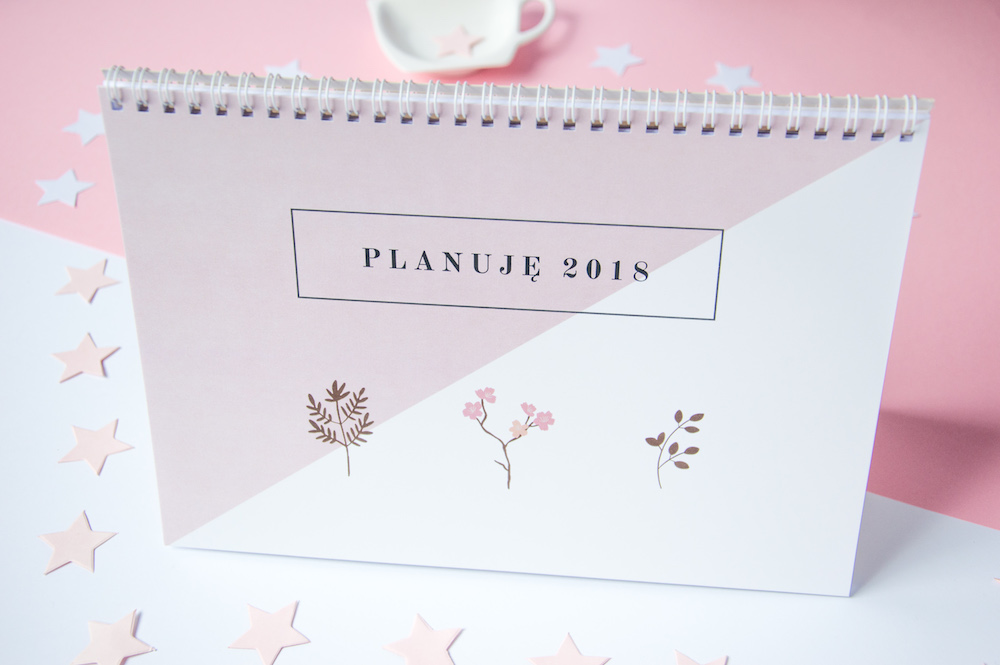 kalendarz na biurko 2018 planer miesięczny