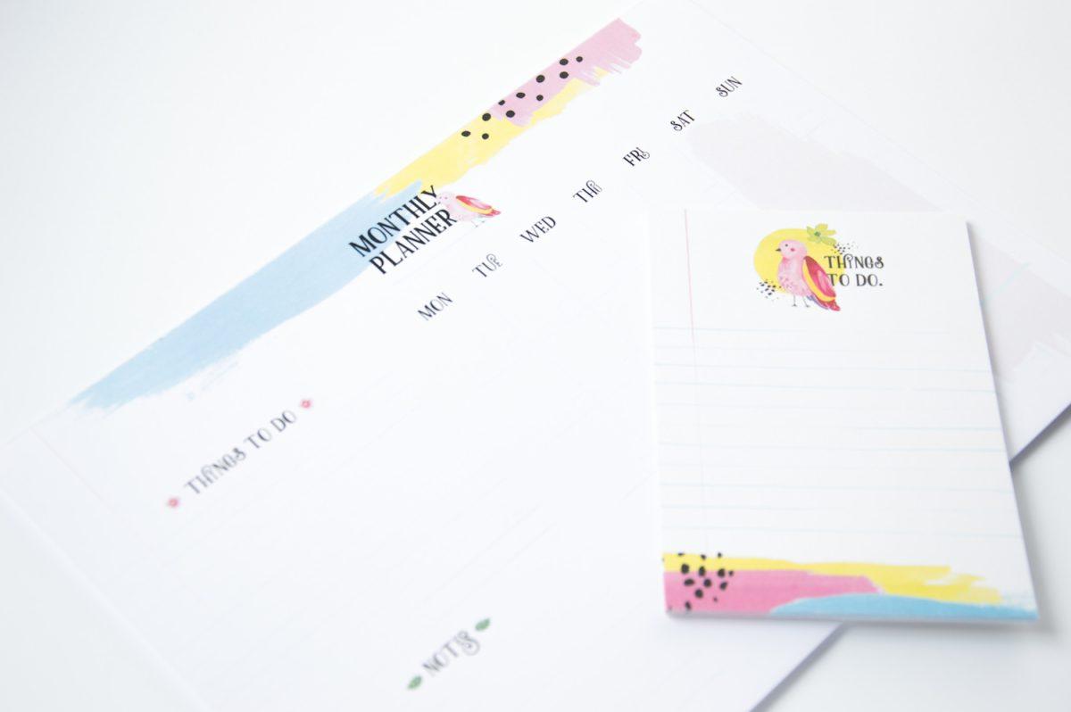 papuga planer miesięczny notes lista zadań