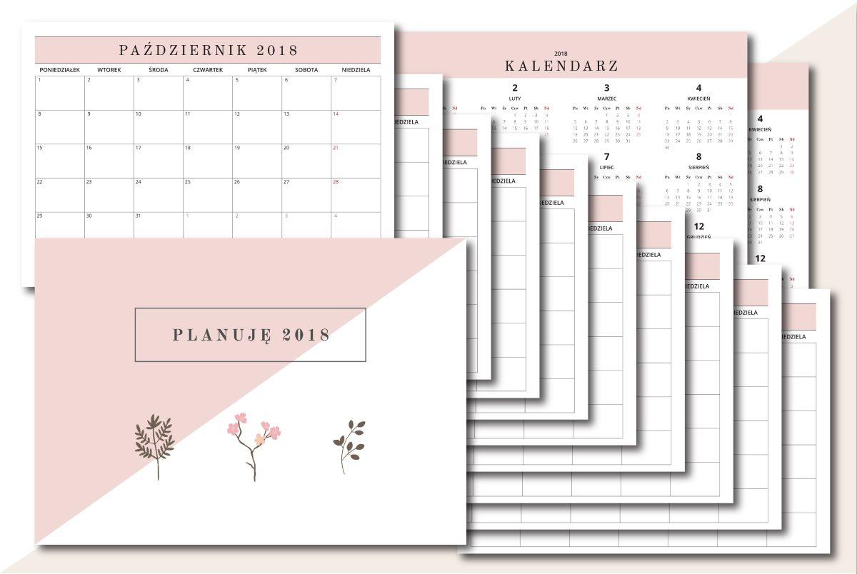 planer miesięczny kalendarz do druku 2018 pdf