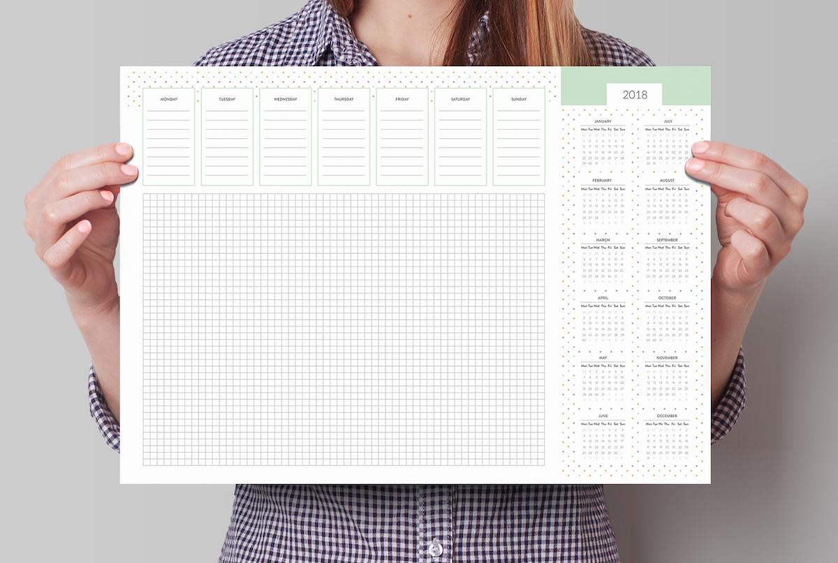 planer na biurko z kalendarzem 2018 do pisania z wyrywanymi kartkami