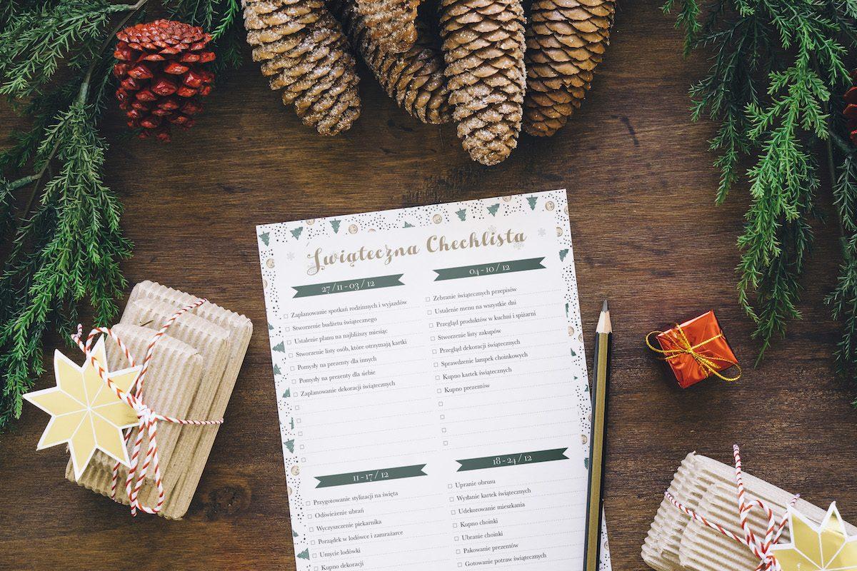 planer świąteczny do wydrukowania