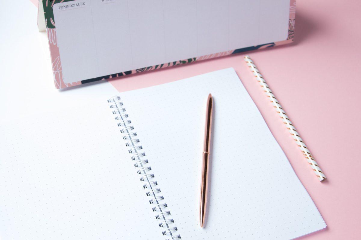 planer tygodniowy zeszyt bujo bullet journal kropki