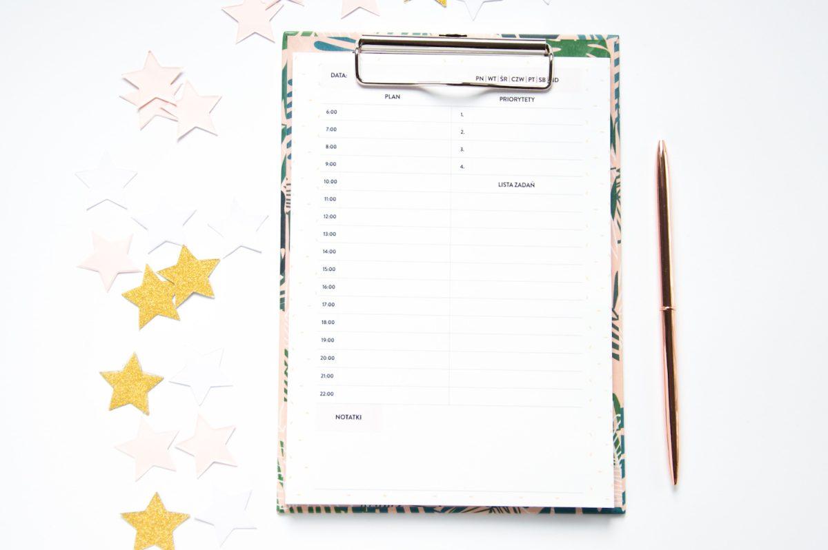 zestaw pod choinkę planery dzienny deska z klipem