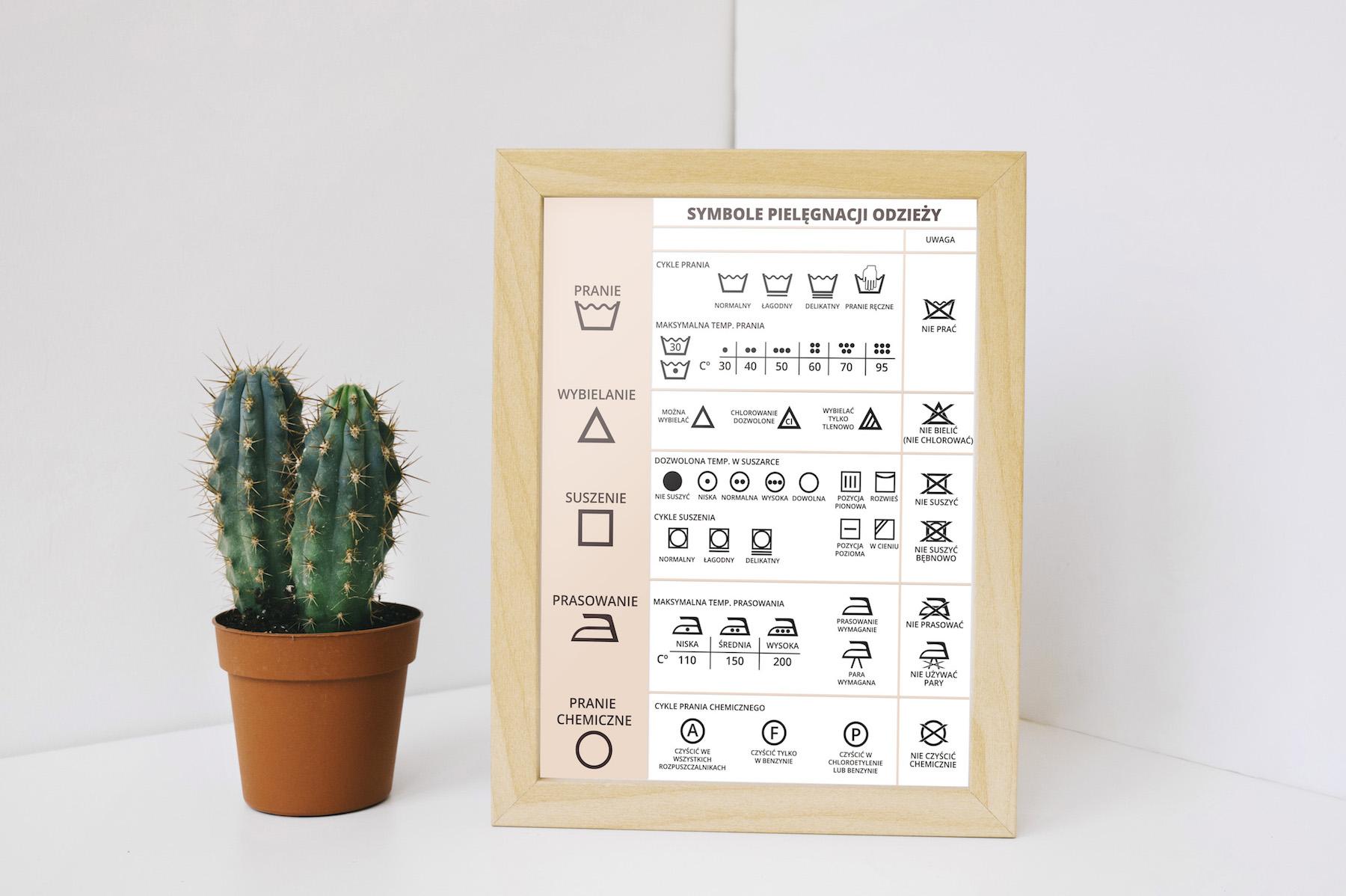 symbole prania odzieży do druku pdf