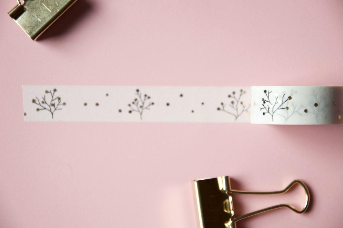 taśma dekoracyjna washi tape złota
