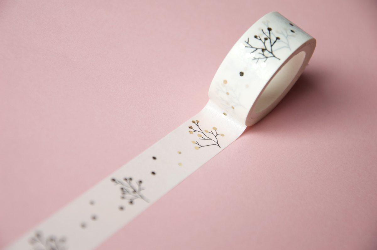taśma dekoracyjna złote elementy washi tape