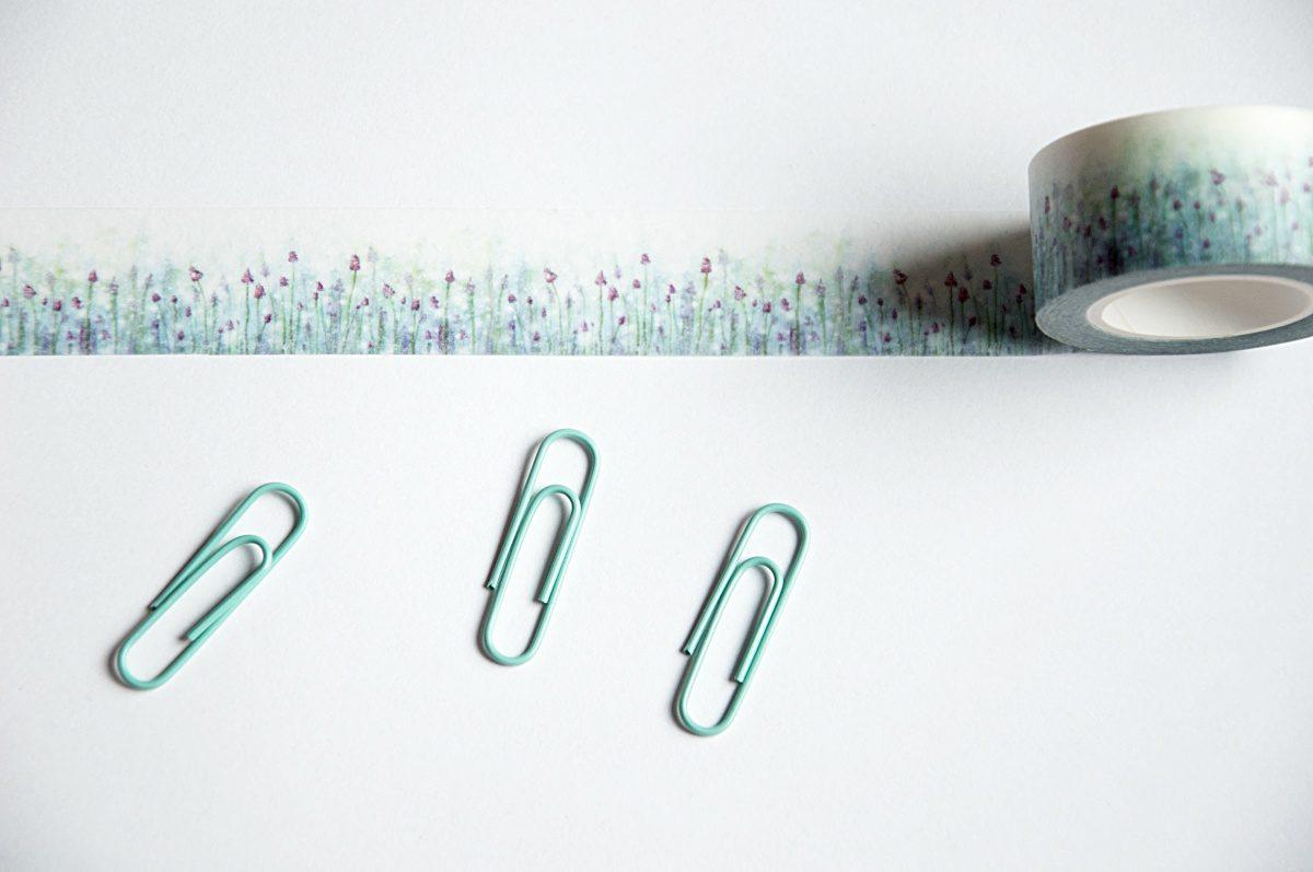 taśma do dekorowania kwiaty washi tape