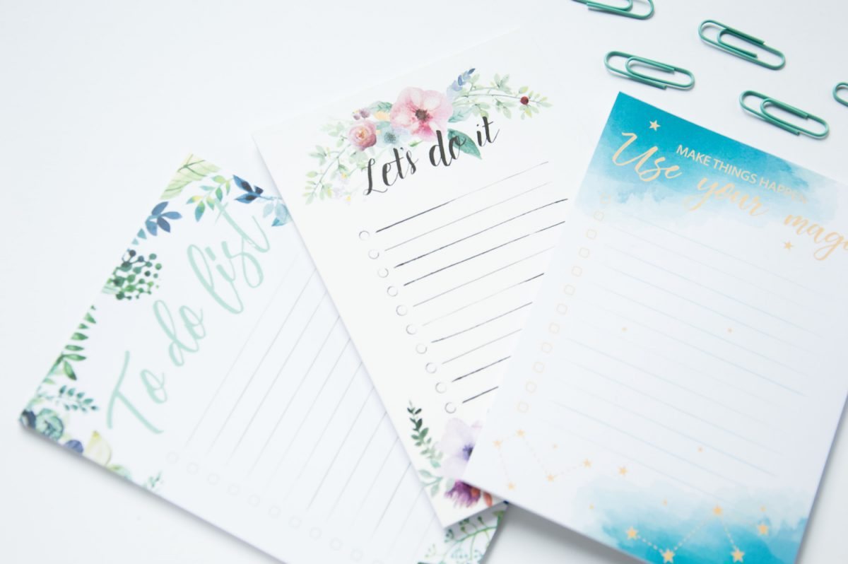zestaw notesów to do lista zadań