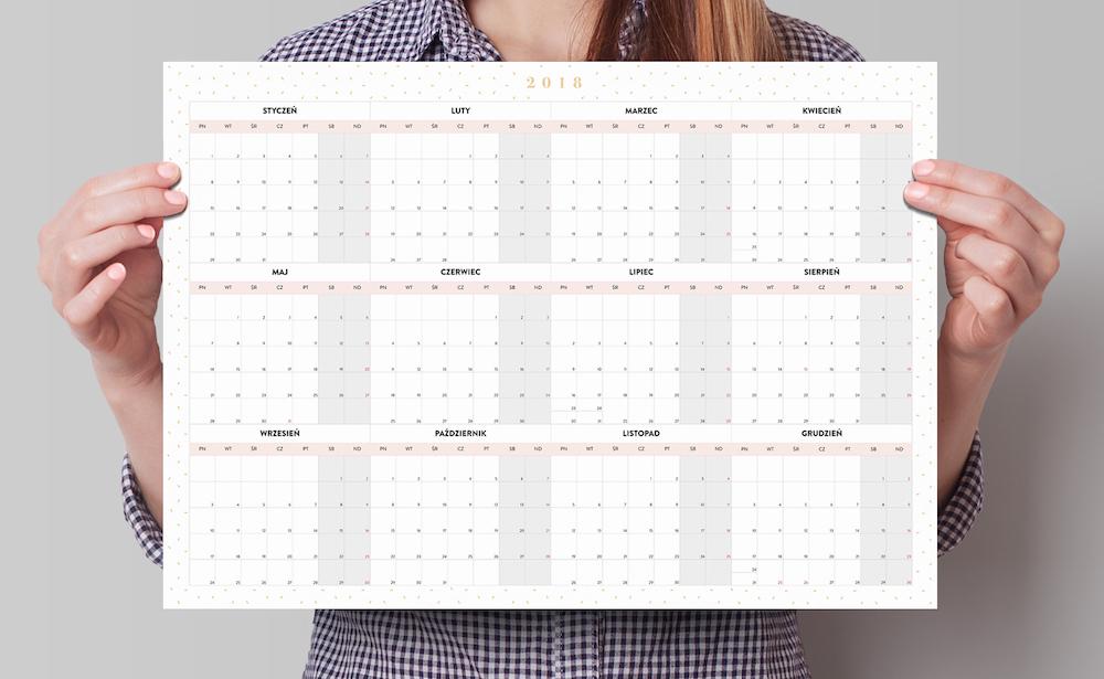 planer kalendarz roczny 2018 a3