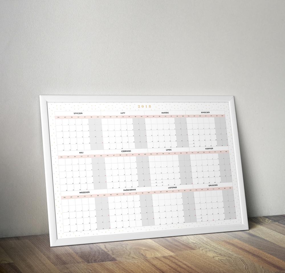 planer kalendarz roczny 2018 do druku