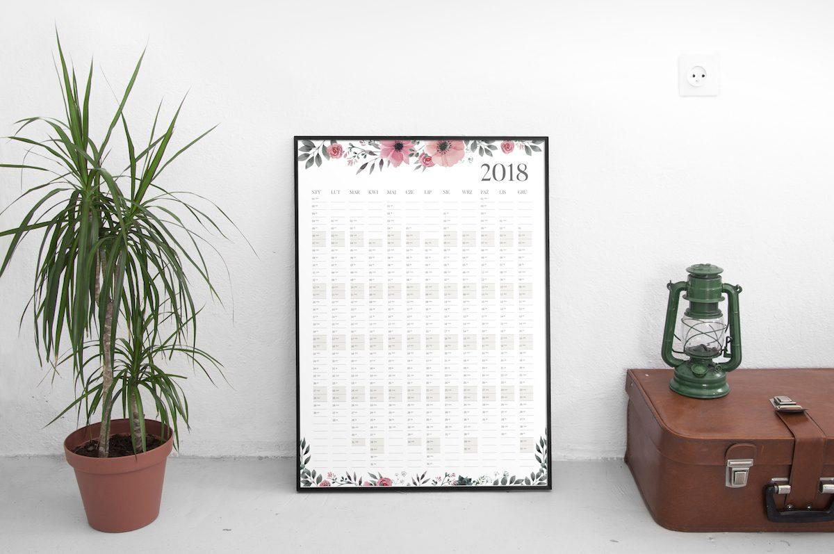 kalendarz duży ścienny 2018 roczny