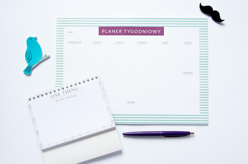 planer notes z odrywanymi kartkami