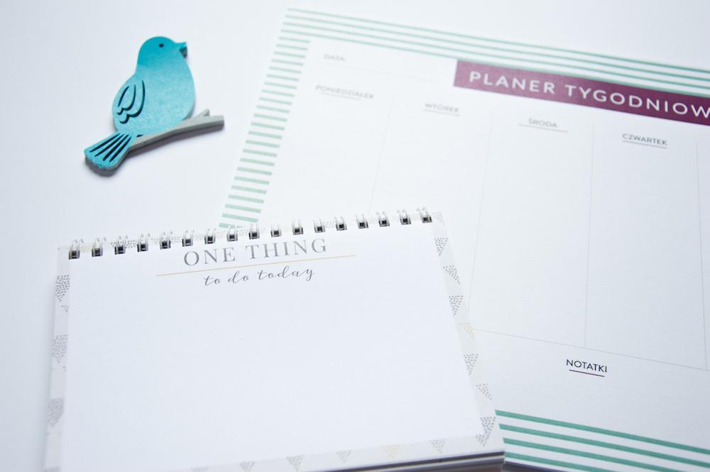 planer tygodniowy i planer jednej rzeczy