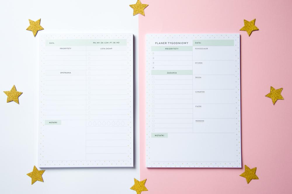 planery notesy z odrywanymi kartkami dzienny tygodniowy planer