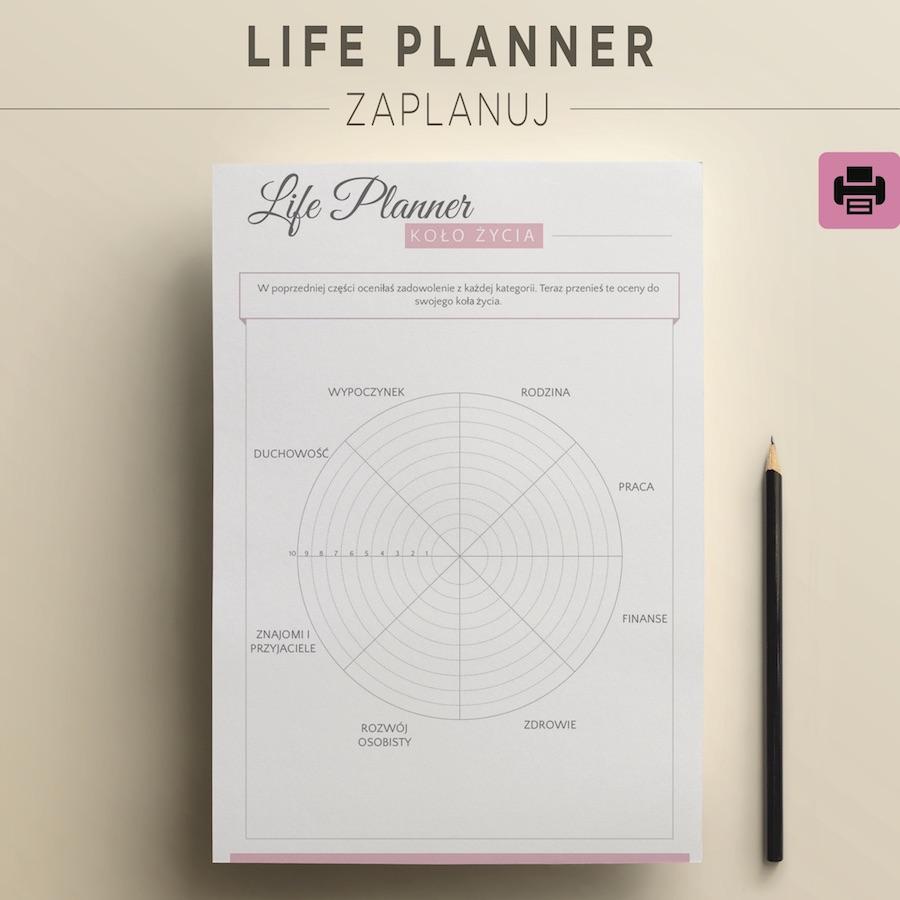 life planner roczny do druku