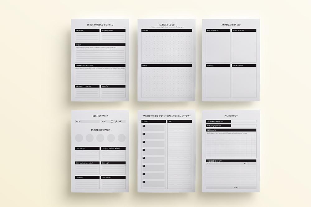 OgarniamSie BiznesPlaner 1 - Biznes planer do druku | Format A5