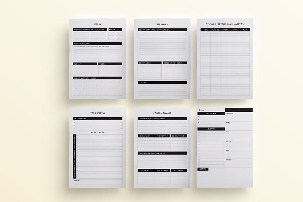 OgarniamSie BiznesPlaner 2 - Biznes planer do druku | Format A5