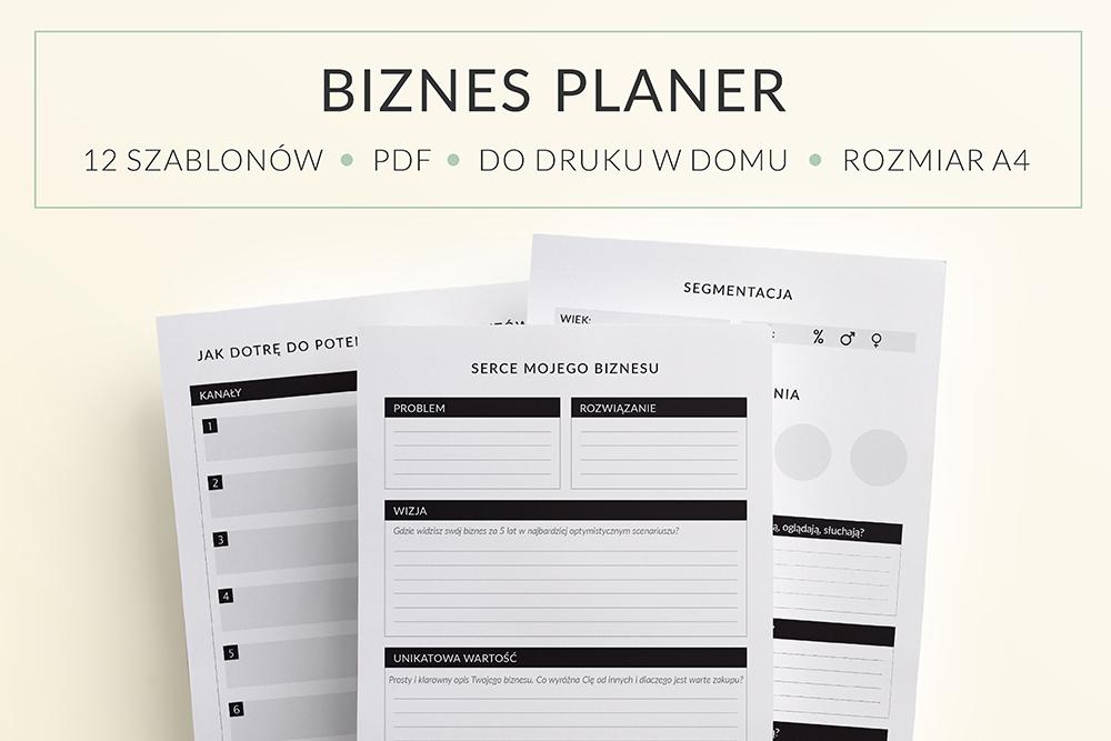 OgarniamSie BiznesPlaner main - Biznes planer do druku | Format A5