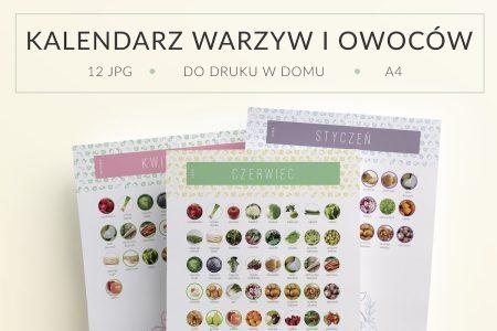 OgarniamSie KalendarzeWarzywOwocowSezonowych do druku 450x300 - Kalendarz warzyw i owoców sezonowych do druku | Format A4